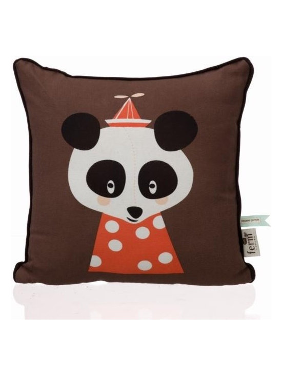 """Ferm Living Organic Posey Panda Pillow - Ferm Living has created an adorable collection of pillows called """"The Marionette Collection"""" made from 100% Organic cotton with soft and cozy down filling."""