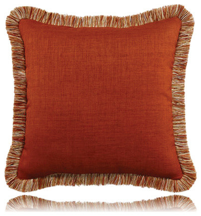 fringed spice pillow (20x20) contemporary-decorative-pillows