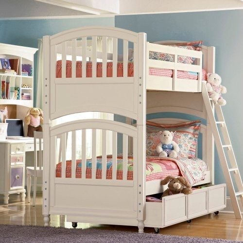 Build-A-Bear Pawsitively Yours Twin over Twin Bunk Bed traditional-kids-beds