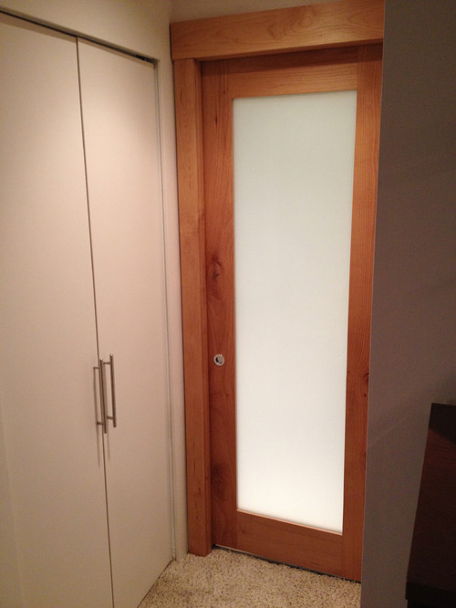 This Is A Pocket Door I Made In My Shop Out Of Alder. Can You See The Hole  To Pop The Lock?