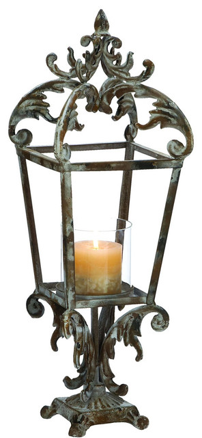Metal Lantern with Contemporary Style Class Apart Design traditional-outdoor-lighting