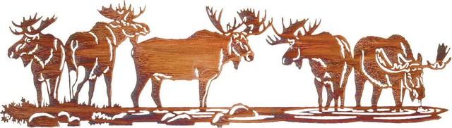 Rustic Moose Metal Art Over Door Hanger rustic-artwork