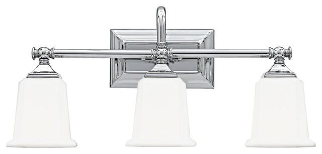 Nicholas Collection Polished Chrome 22 Wide Bathroom Light Traditional Bathroom Vanity Lighting