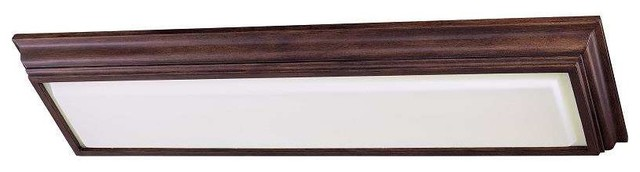 Minka Lavery 1001-126-PL Kitchen Fluorescent Ceiling Light In Belcaro Walnut traditional-flush-mount-ceiling-lighting