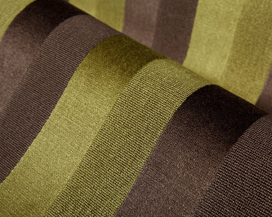 Delicia Stripe Upholstery in Lime & Brown - Delicia Stripe Upholstery in Lime Green & Brown. A Belgian cut pile velvet with alternating velvet and epingle stripes. A new twist on a classic stripe. A great coordinate for our Delicia Damask!