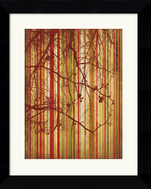 Auburn Stripe Framed Print by Erin Clark traditional-prints-and-posters