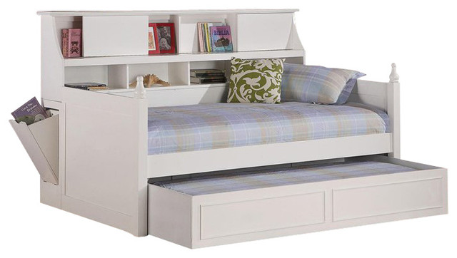 Coaster Daisy Bookcase Wood Daybed With Under Bed Trundle