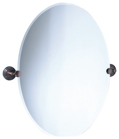 Marina Oval Mirror in Oil Rubbed Bronze Modern