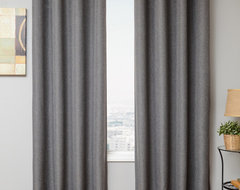 Blindsgalore Signature Drapery Panel: Euro Linen Blackout traditional-curtains
