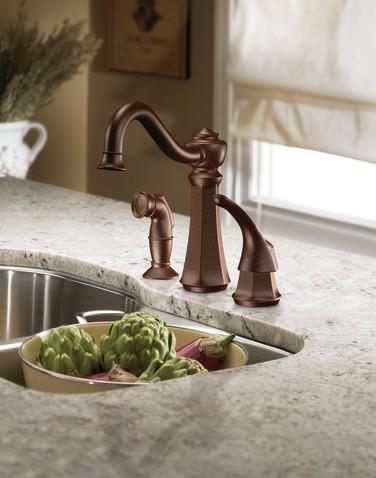 Moen Vestige Oil Rubbed Bronze Moen Vestige Oil Rubbed Bronze One Handle  High Arc Kitchen Faucet
