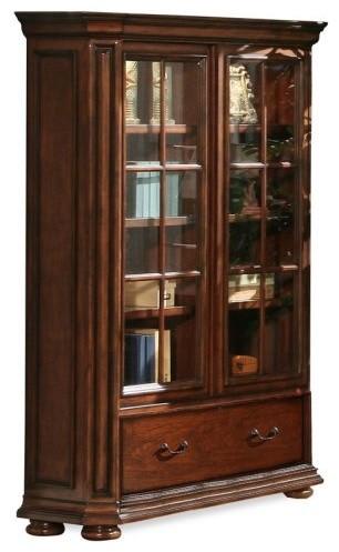 Riverside Cantata Windowpane Bookcase with Doors ...