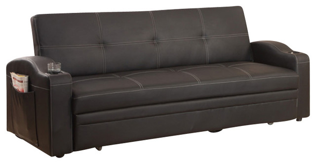 Image Result For Black Leather Sofa Bed Sleeper With Adjustable Arms