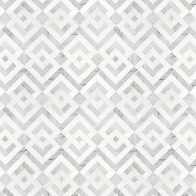 Signet Collection Parquet Solid Mosaic eclectic tile