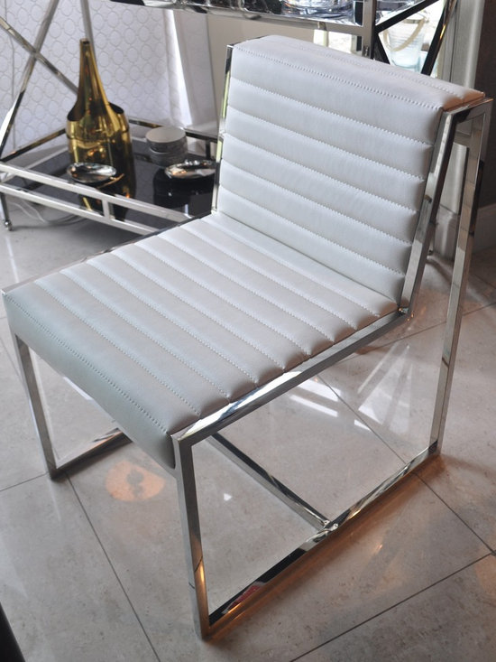 Showroom Pieces - White Faux Leather Dining Chair