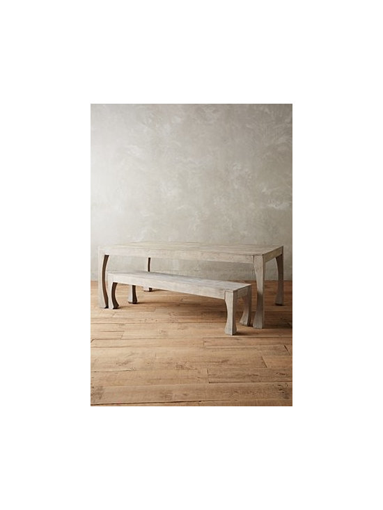 Anthropologie - Navarra Collection Dining Table - Mango wood. Distressed finish. Wipe with dry cloth. Imported