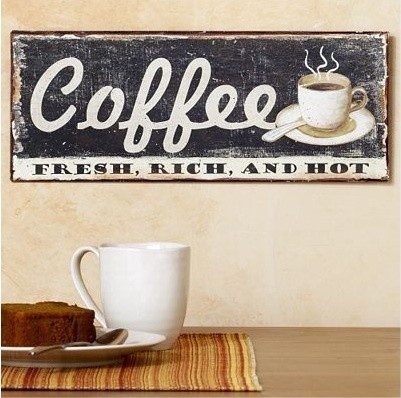 Metal Coffee Sign eclectic artwork