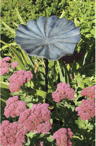 Small Lily Leaf II Birdbath traditional-bird-baths