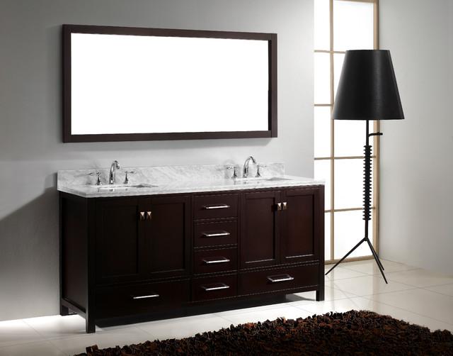 Virtu USA GD 50072 Caroline Avenue 72 Double Sink Bathroom Vanity M