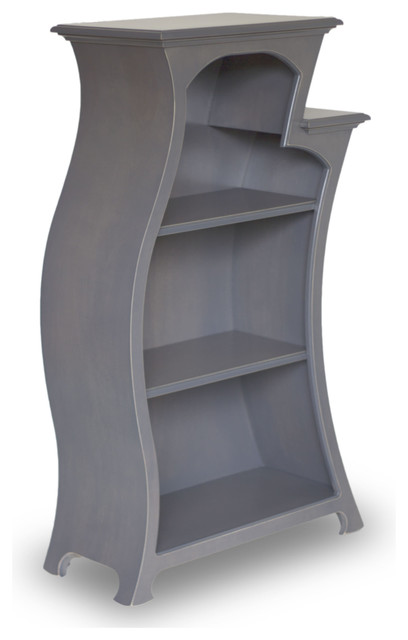 Mobile Curved Bookcase Opening the Book North America