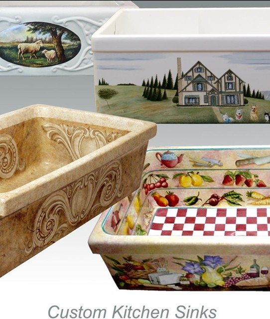custom hand painted kitchen sinks kitchen sinks other