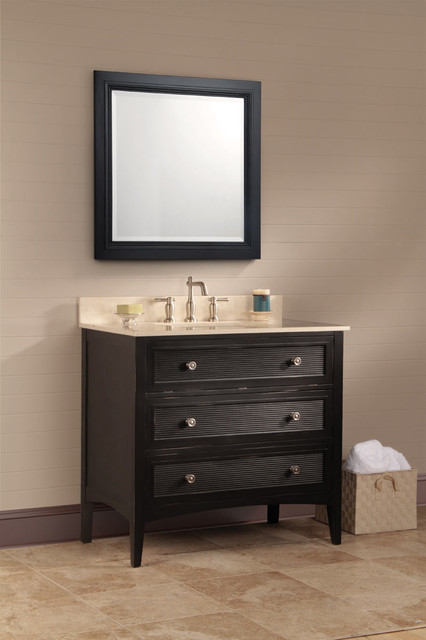 Bernay antique black bath vanity - Foremost contemporary-bathroom-vanities-and-sink-consoles