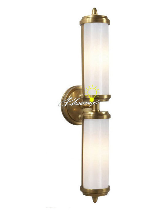 Antique Double lights PPC and Copper Wall Sconce - Antique Double lights PPC and Copper Wall Sconce