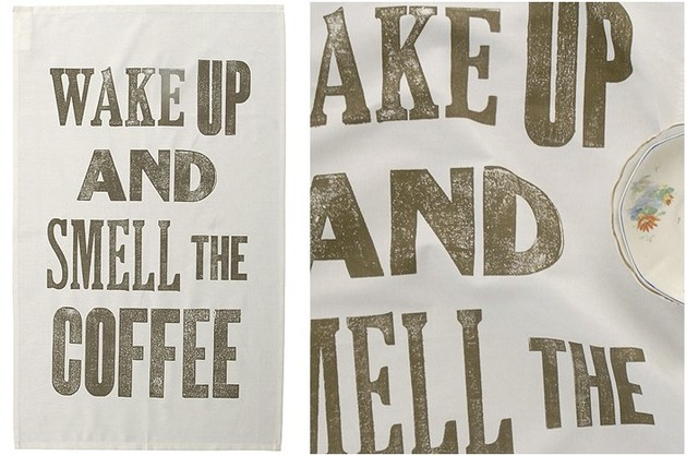 Smell The Coffee Tea towels contemporary-dish-towels