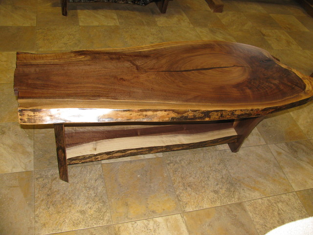 Walnut Slab Coffee Table 5 Rustic Coffee Tables Other Metro By Perry Creek Woodworking