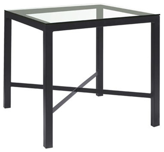 Parson square pub table counter height by charleston for Square counter height table