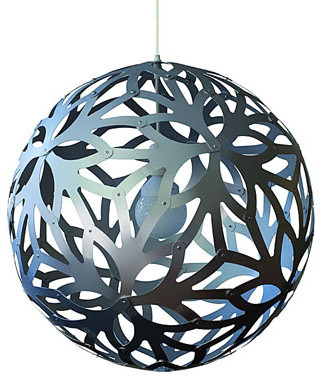 Floral Pendant Light in Aluminum Natural by David Trubridge  pendant lighting