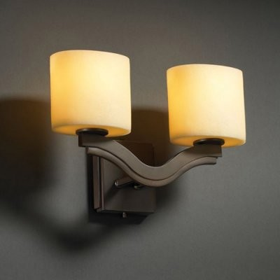 Justice Design Group CandleAria CNDL-8975-30-AMBR-DBRZ Bend 2-Light Wall Sconce modern-wall-lighting