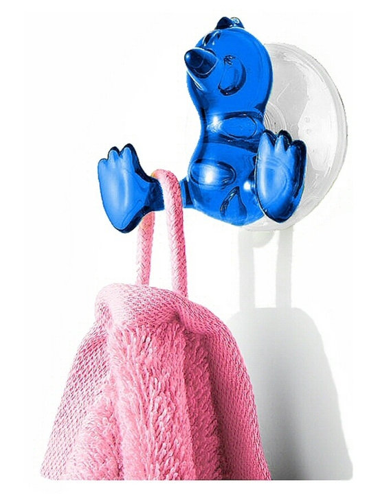 Super Strong Suction Hooks - Baby Bird, Turquoise - Tweety and Woodstock fans ... meet the baby bird suction hook. Hang your bathroom belongings on this birdie's feet — go ahead, we dare you — it's strong, holding up to 10 pounds of weight.