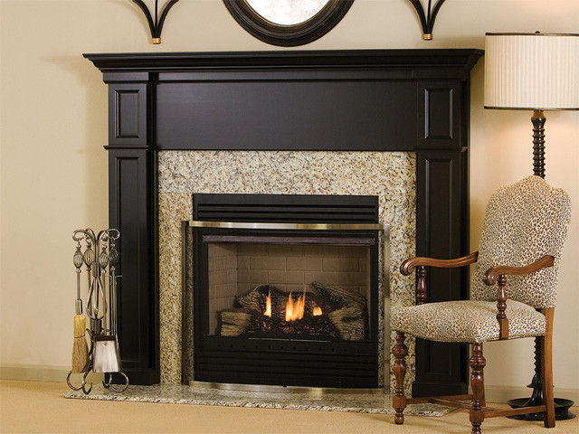Bennington Wood Fireplace Mantel - traditional - fireplaces ...