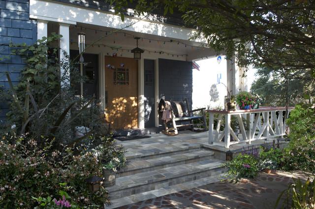 Echo park home bluestone front porch view after for Bluestone front porch