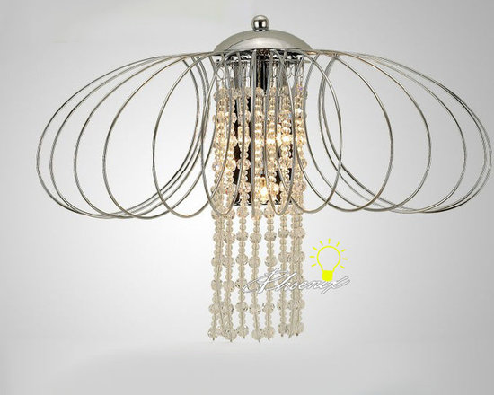 Modern Iron Art and Crystal Wall Sconce in Chrome Finish - Modern Iron Art and Crystal Wall Sconce in Chrome Finish