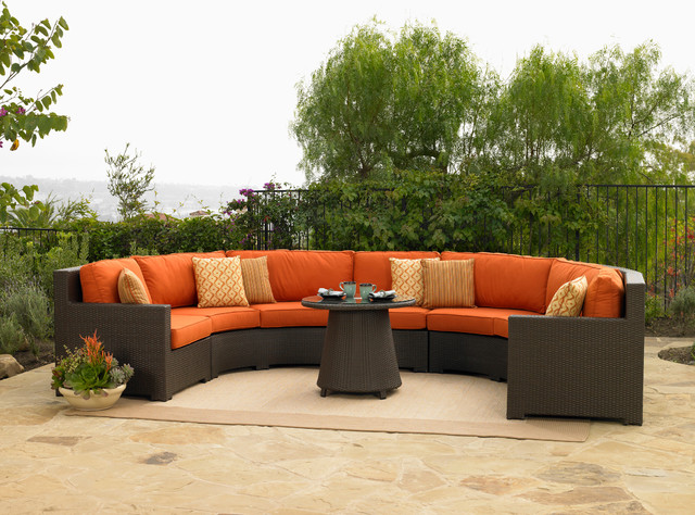 Round Outdoor Sofa Sectional Outdoor Sofas other metro by All Backyard Fun