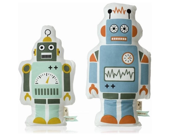 Ferm Living Organic Mr. Robot Pillow - Meet the Robots by Ferm Living! Mr. Robot is made of 100% organic cotton & will make your child's room... happy.