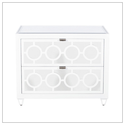 ... Mirrored Nightstand, White contemporary-nightstands-and-bedside-tables