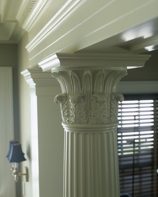 Chadsworth Cottage Master Bedroom Column Screen traditional