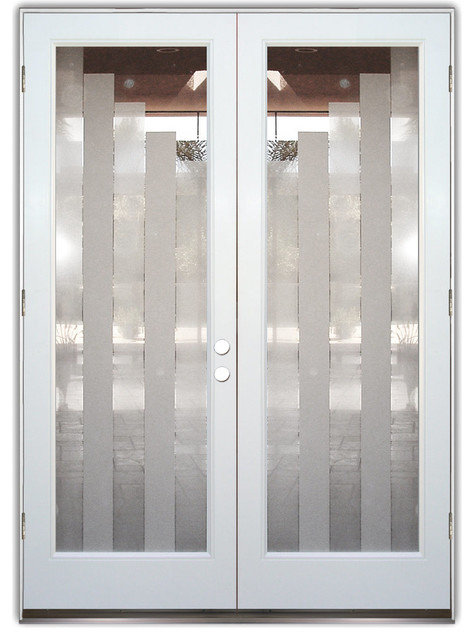 Glass Front Entry Doors - Frosted Glass Obscure - TOWERS 2D - Contemporary - Front Doors - other ...