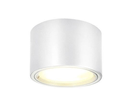 SLV Lighting - SLV Lighting | PL Surface Mounted Ceiling Light - Design by SLV Lighting.The PL Surface Mounted Ceiling Light is a cylindrical flush-mount light. Clean, modern, architectural style define the PL light. Produces direct and ambient light. Available in silver gray and white finishes. Made of aluminum and glass.