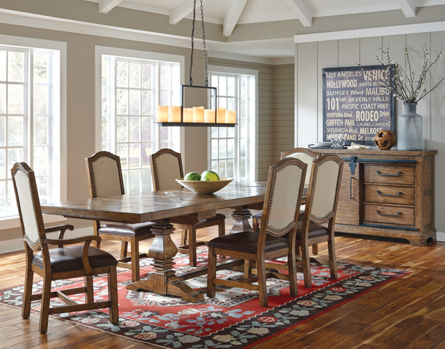 American Attitude Dining Table Set Farmhouse Dining Room Miami