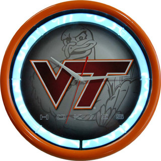 Virginia Tech NCAA 12-inch Plasma Neon Clock - Modern - Clocks - by ...
