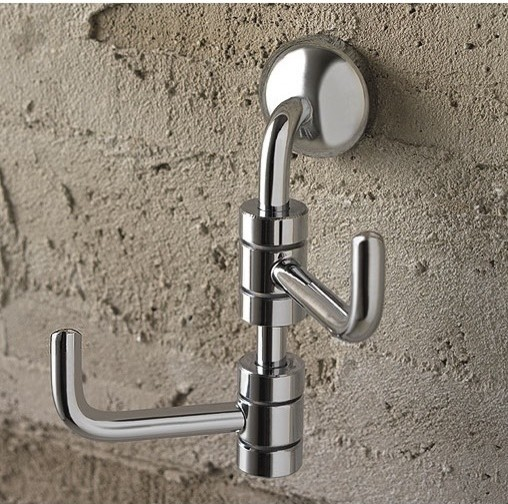 Polished Chrome Double Robe Hook - Contemporary - Robe & Towel Hooks - by TheBathOutlet