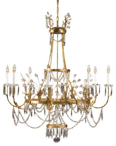 Swedish crystal chandelier traditional chandeliers by inviting home inc - Traditional crystal chandeliers ...