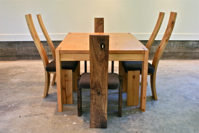 Simple Slab Table eclectic-dining-tables