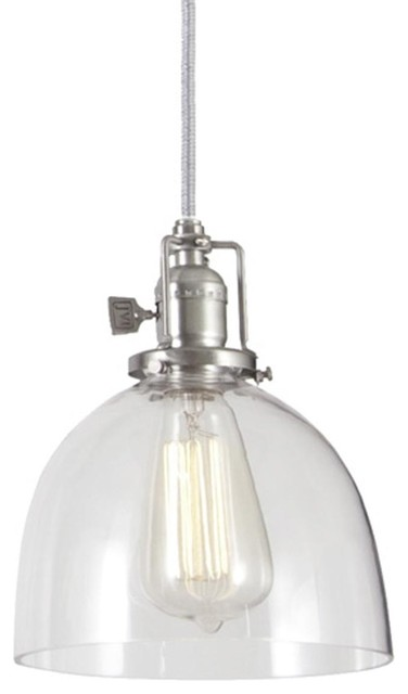 Clear Glass Dome Industrial Pendant Pendant Lighting By Shades Of Light