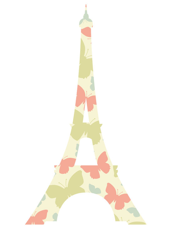 Bebe Diva - Eiffel Tower Butterfly Wall Decal - Removable Reusable - A quick and easy way to decorate your child`s room and nursery! This beautiful Eiffel Tower Wall Decal is modern but adds a touch of class to any room decor.