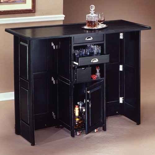Swing Open Portable Home Bar Contemporary Indoor Pub And Bistro Tables By Hayneedle