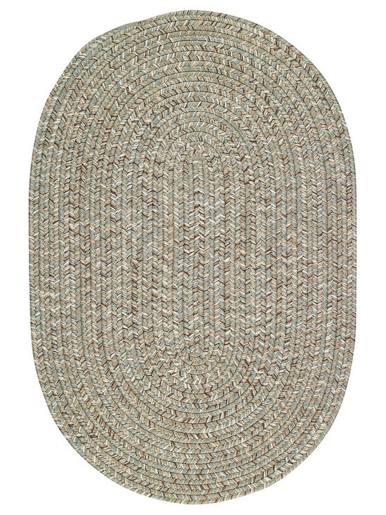 Woodrun rug in Spa - Woodrun is part of the Capel Anywhere™ collection of indoor/outdoor braided rugs. Fresh colors in solid or heathered yarns keep pace with today's casual home trends.